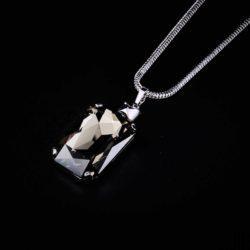 Bjorn van den Berg Fragile Pendant XL Silver Blackdiamond