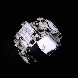 Bjorn van den Berg Fragile Side Bracelet Silver Clear B.Diamond