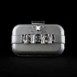 BVDB Clutch Front Silver FRAGILE