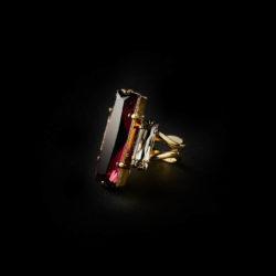 Bjorn van den Berg Aphrodite Ring Gold Amethyst Black.Diamond