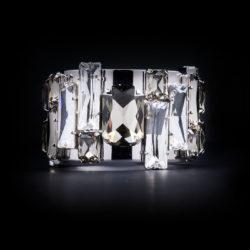 Bjorn van den Berg Fragile Front Bracelet Silver Clear Black.Diamond