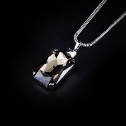 Bjorn van den Berg Fragile Pendant XL Silver Black Diamond