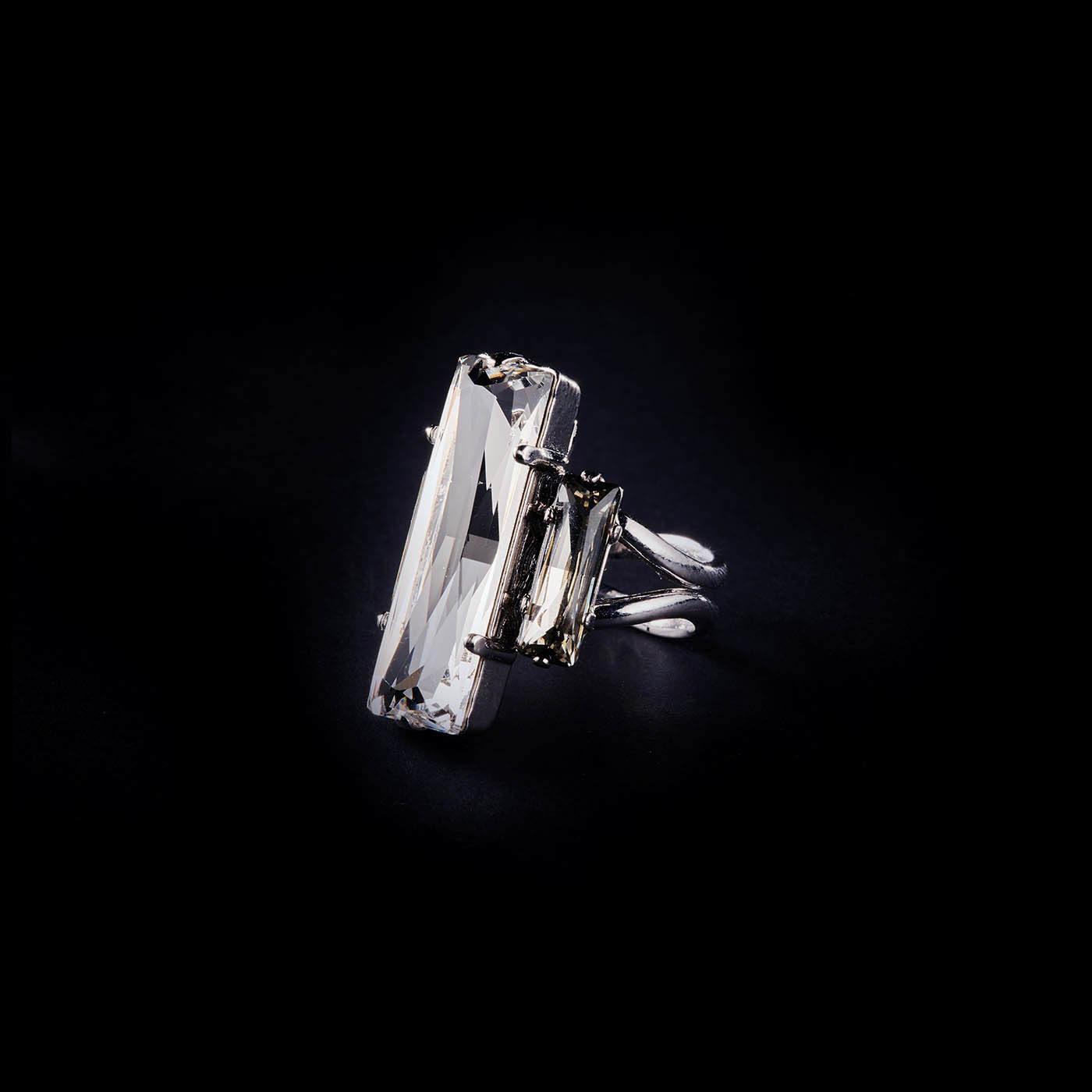 Bjorn van den Berg Fragile Ring Silver Clear Black.Diamond 1