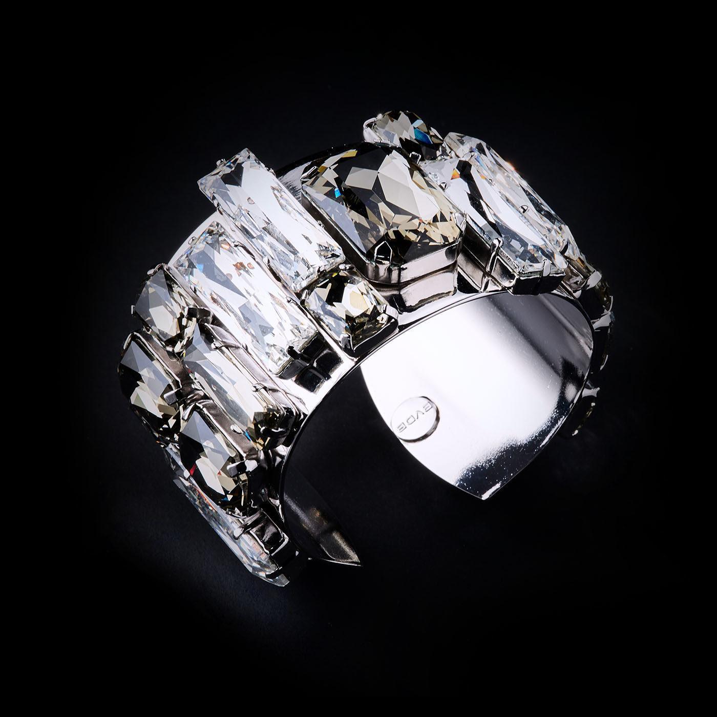 Bjorn van den Berg Fragile Side Bracelet Silver Clear Black.Diamond