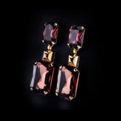 Bjorn van den Berg M Marocco Earrings XL Amethyst Topaz