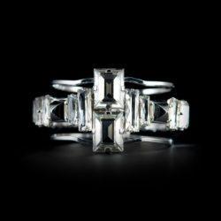 Bjorn van den Berg Decadence Bracelet Front Platinum Clear Pyramide