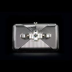 Bjorn van den Berg Decadence Clutch Limited Edition Front Silvertone Monochrome Clear