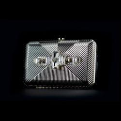 Bjorn van den Berg Decadence Clutch Limited Edition Side Silvertone Monochrome Clear