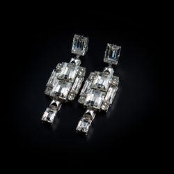 Bjorn van den Berg Decadence Earrings Large Front Limited Edition Platinum Clear thumb