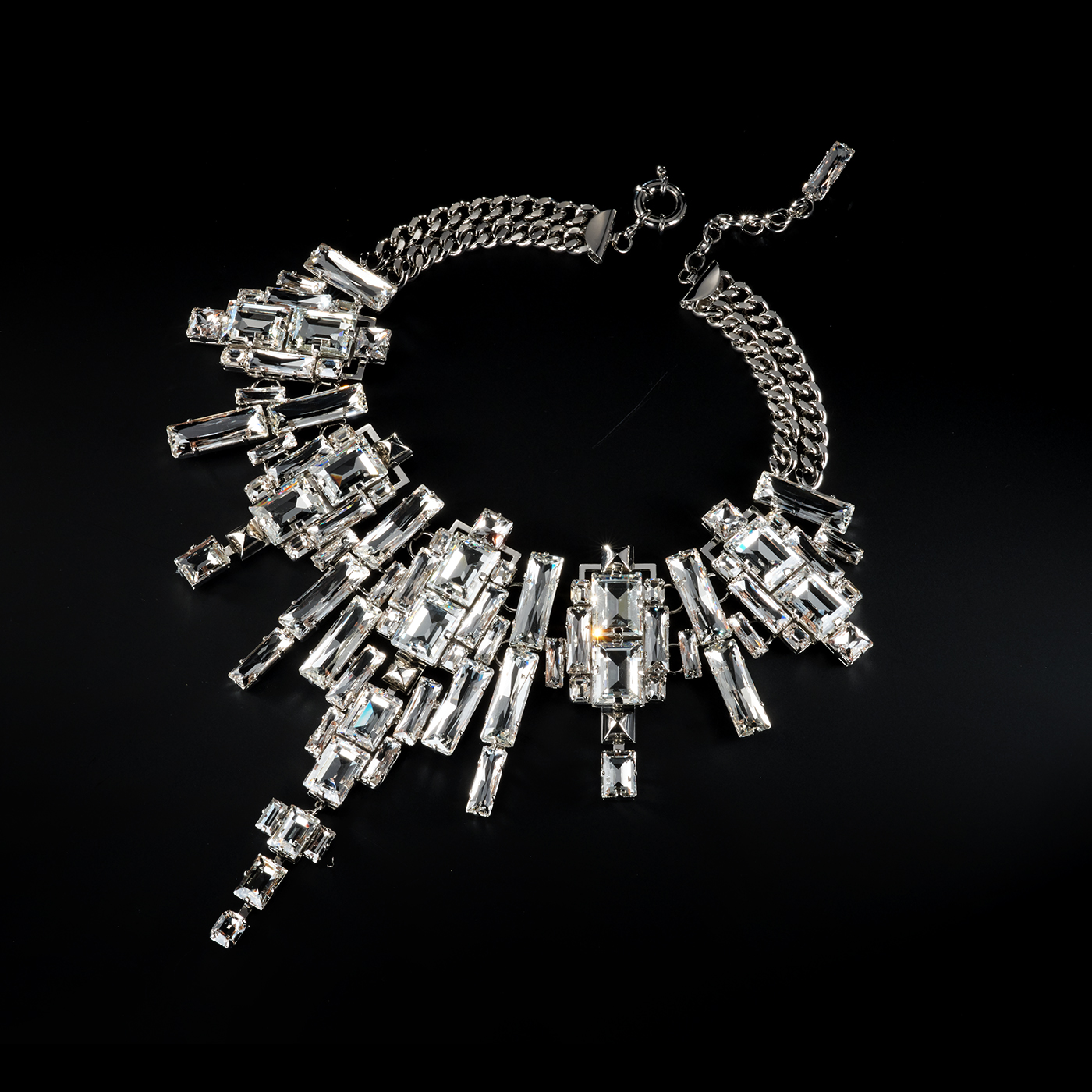 Bjorn van den Berg Decadence Necklace Limited Edition Front Platinum Clear 2