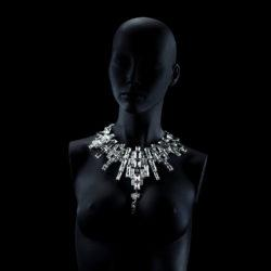 Bjorn van den Berg Decadence Necklace Limited Edition Mannequin Platinum Clear
