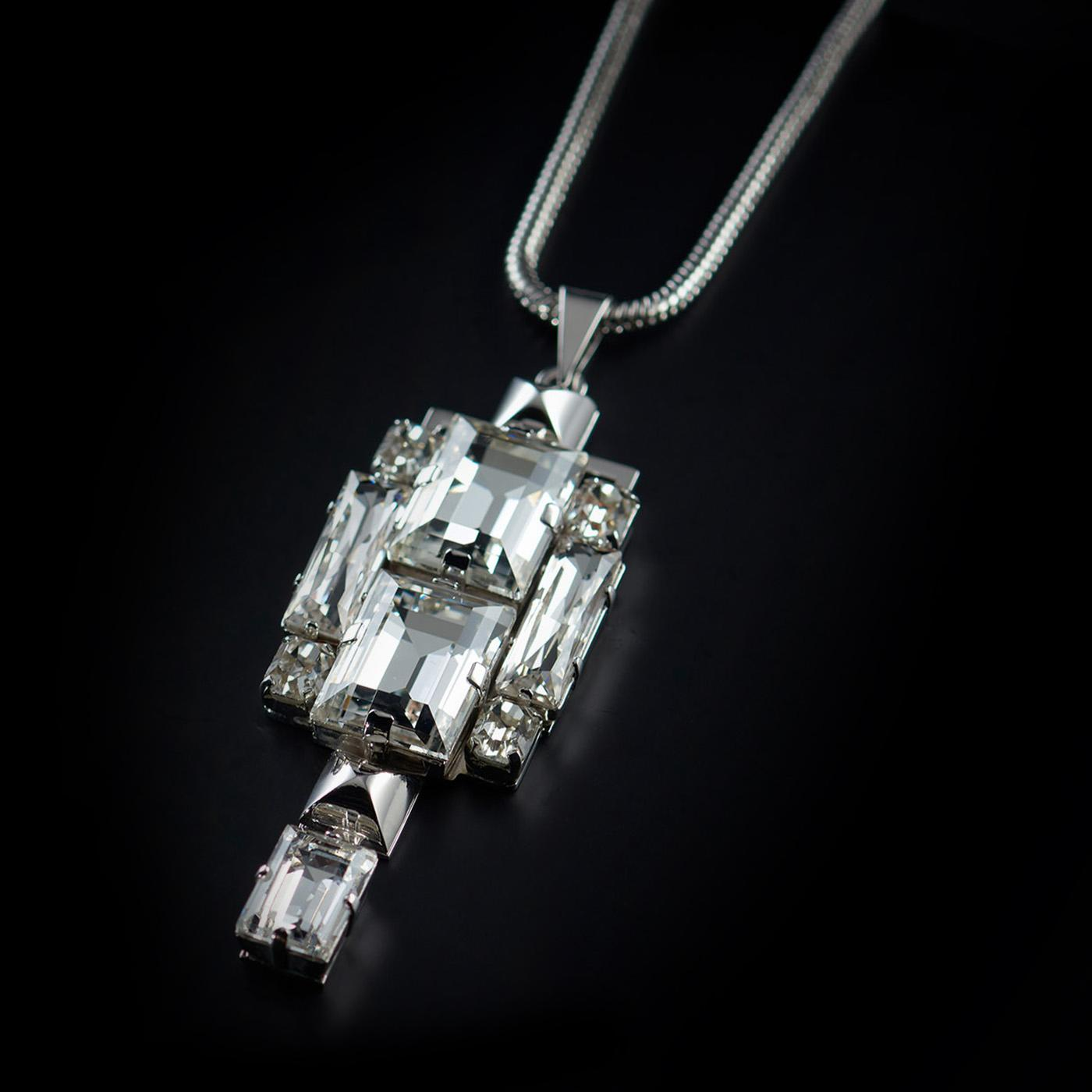 Bjorn van den Berg Decadence Pendant Large Front Limited Edition Platinum Clear