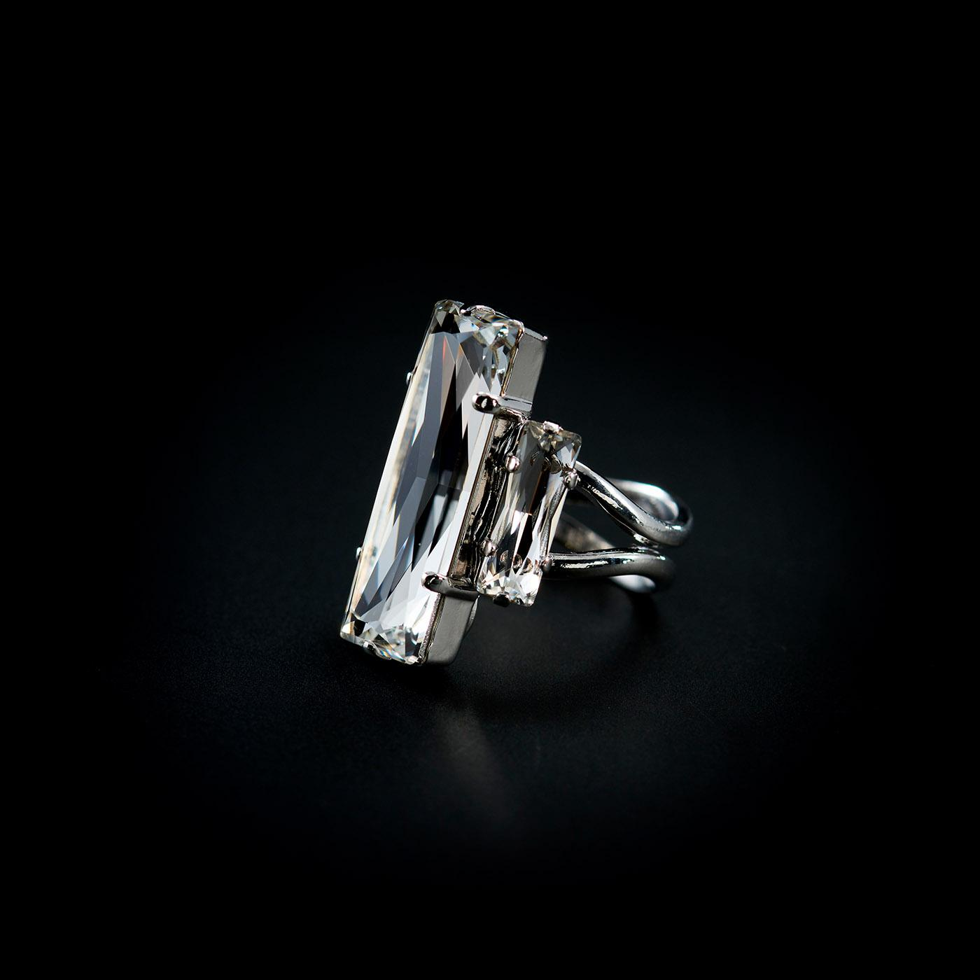 Bjorn van den Berg Decadence Ring Platinum Clear